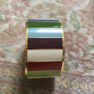 COACH Legacy Striped Bangle Bracelet